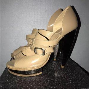 Chloe peep toe heels size 371/2